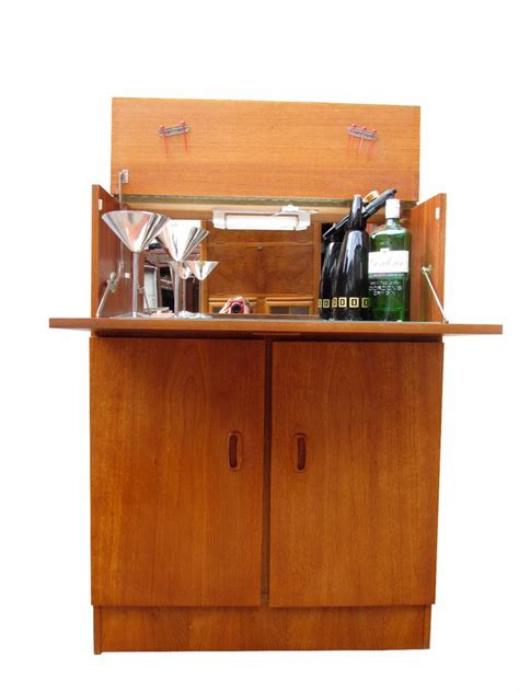 mid century bar cabinet large teak mid century danish modern 1960s vintage drinks bar