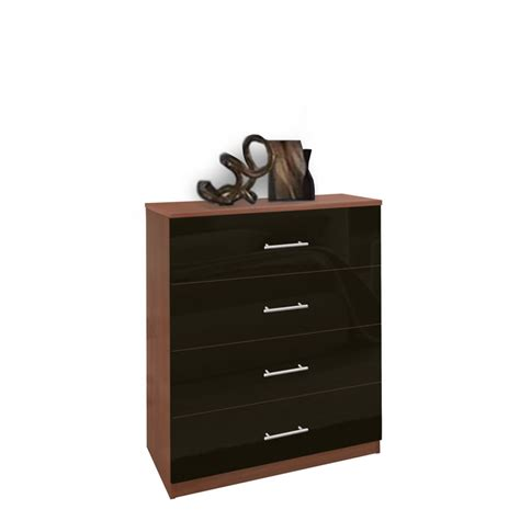 Modern Dresser Drawers by Modern 4 Drawer Dresser Chest Of Drawers Contempo Space