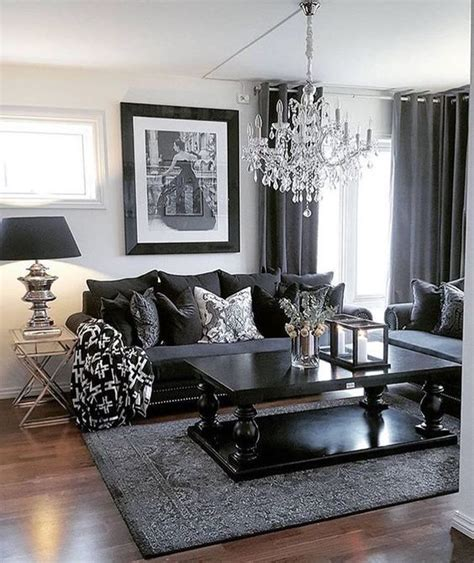 Grey Living Room Curtains Decorating 25 Best Ideas About Black Living Rooms On Pinterest Apartment Decor Living Room