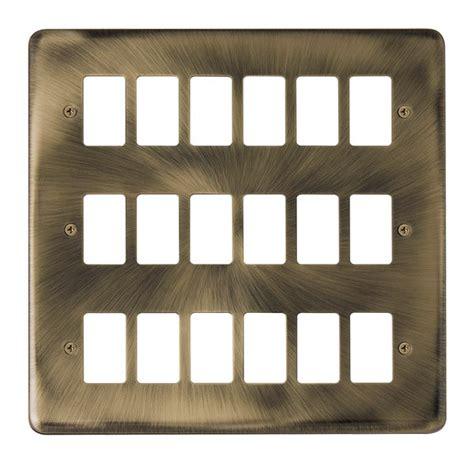 Deco Plus Deco Deco Whale click deco plus gridpro antique brass 18 front plate at uk electrical supplies