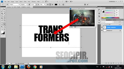 Membuat Video Bergambar | cara memasukan gambar ke dalam tulisan di photoshop seocipir