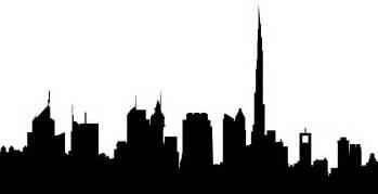 Skyline Silhouette Dubai Skyline Silhouette Free Vector Silhouettes