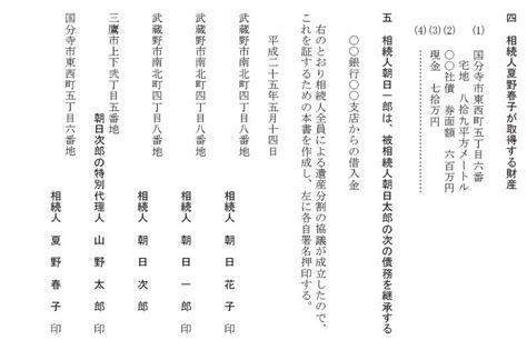 Suzuki Office 遺産分割協議書記載例 Suzuki Accounting Office