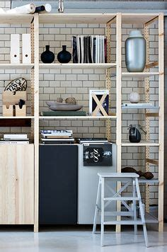 ivar regal ivar 3 section shelving unit w cabinets pine pine i