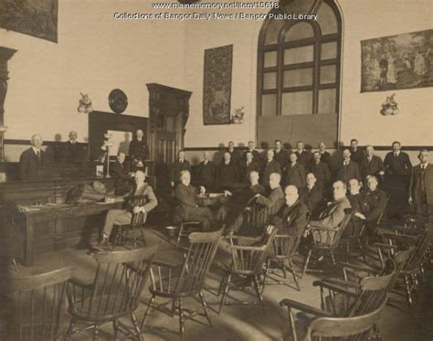 Penobscot County Court Records Maine Memory Network Penobscot County Jury Bangor Early 1900s