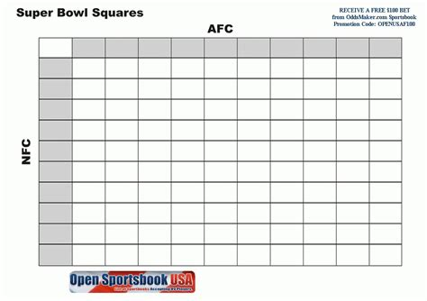 2015 super bowl squares template the best letter sle