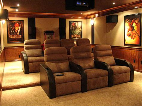 theater home decor home theater seating and decor trellischicago