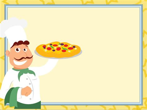 Master Of Pizza Powerpoint Templates Food Drink Yellow Free Ppt Backgrounds And Templates Powerpoint Templates Food