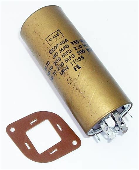 paper capacitor paper capacitor cornell dubilier cc0740a west florida components
