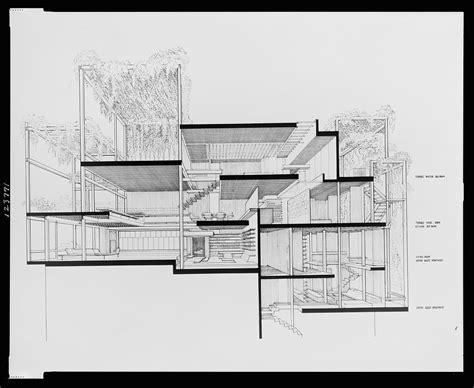 drawing a section a selection of paul rudolph s perspective sections socks