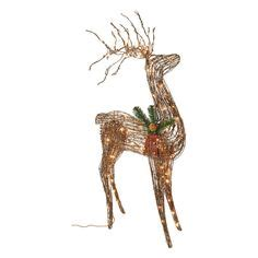 grapevine animated lighted deer decorative on outdoor decorations deer and led