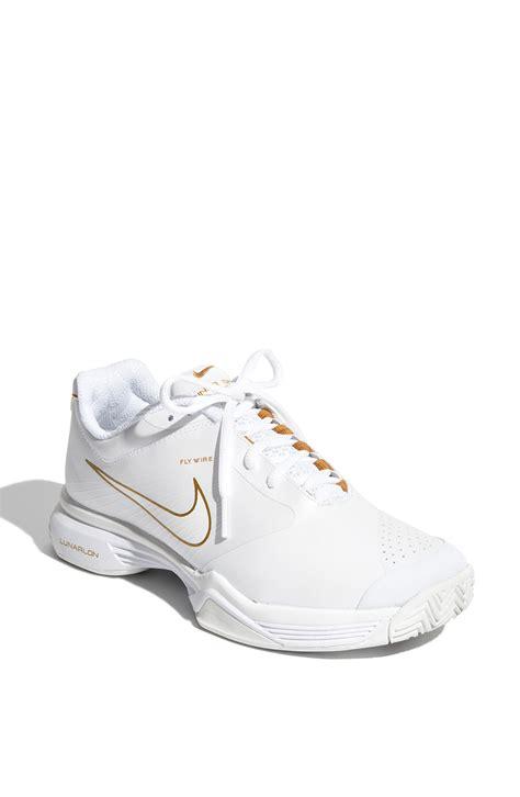 nike lunar speed 3 tennis shoe in white white