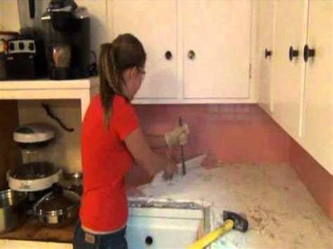 installing a plastic backsplash youtube stephanie s step by step kitchen remodel step 1 demo of