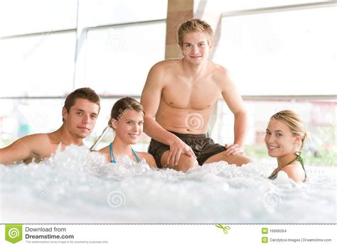 people in bathtubs swimming pool happy people relax in hot tub stock images image 16686064