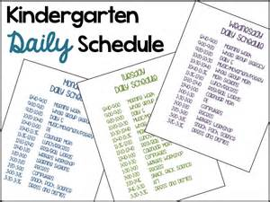 a differentiated kindergarten s daily schedule