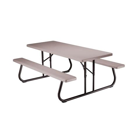 Lowes Picnic Table by Shop Lifetime Products 6 Ft Gray Resin Rectangle Picnic