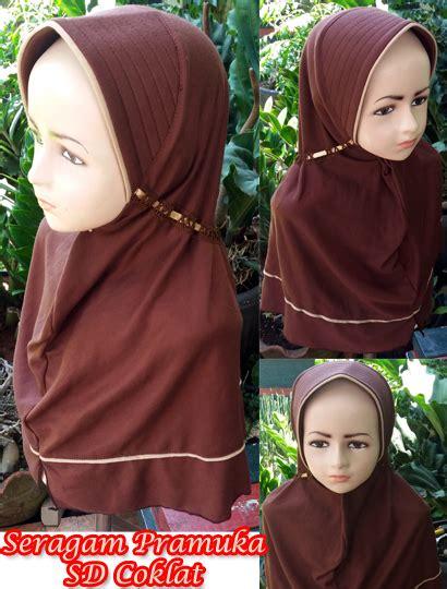 jilbab seragam pramuka sd sentral grosir jilbab