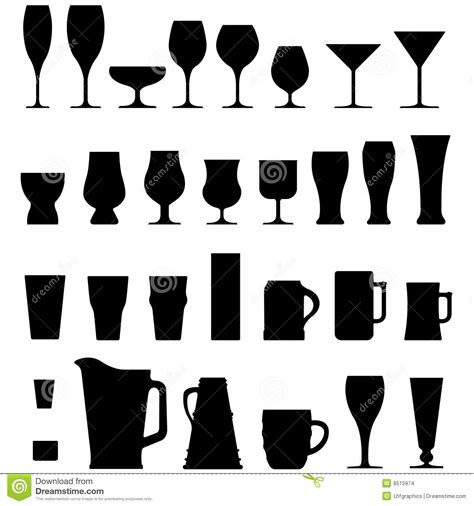 Vector Alcohol Cups And Glasses Stock Images   Image: 8515974
