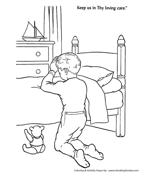 bible lesson coloring page sheets children at bedtime