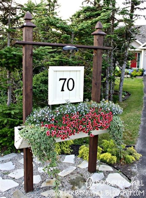 House Number Of Seasons Best 20 Driveway Entrance Landscaping Ideas On
