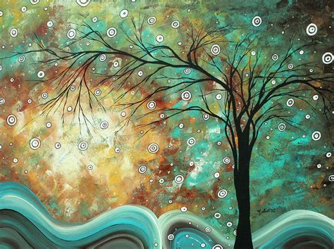 Home Decor Turquoise And Brown pretty as a picture by madart painting by megan duncanson