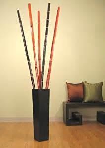 Decorative Floor Vases Bamboo Sticks Amazon Com Green Floral Crafts 27 In Floor Vase With 3