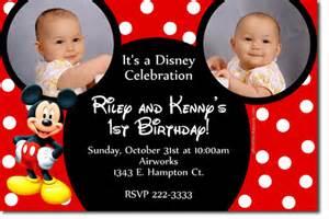 free mickey mouse clubhouse 1st birthday invitations drevio invitations design