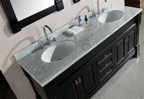 bathroom vanity double marble top adorna 72 quot double vanity set with carrara white
