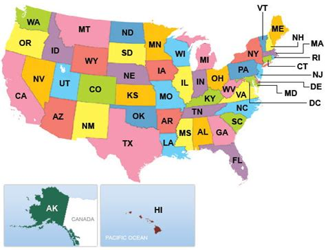 united states list of state abbreviations and capitals