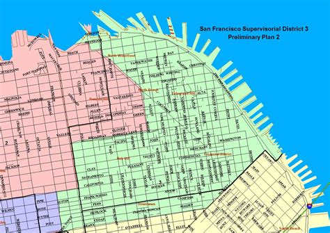 san francisco map by district city and county of san francisco sf district maps data