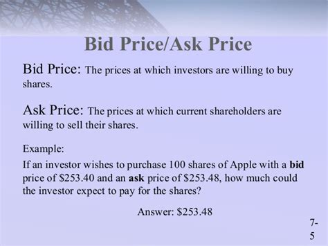 bid prices chap007