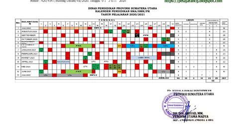 kalender pendidikan  ajaran  provinsi sumut kurikulum pelajaran