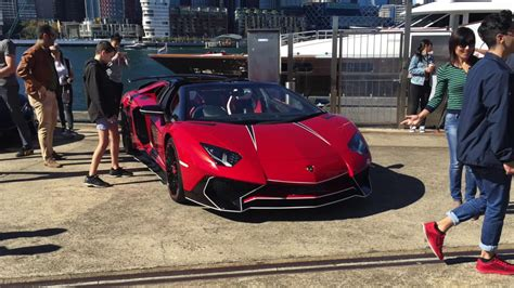 rare lamborghini aventador sv roadster in sydney youtube crazy lamborghini aventador sv roadster in australia youtube