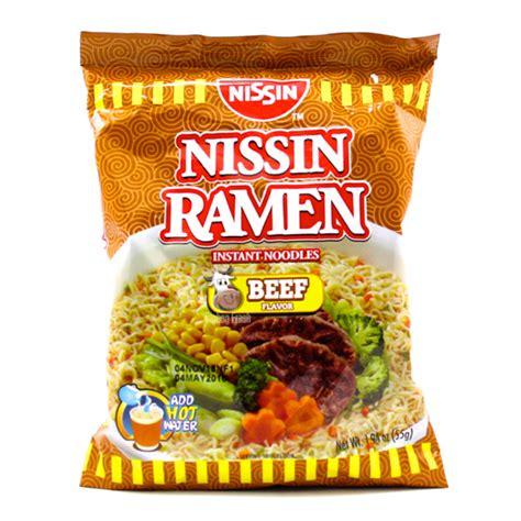 Ramen Nissin nissin ramen instant noodles beef flavor 55g bigbag fresh grocery delivery in panga