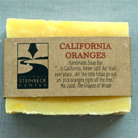 Handmade Soap California - handmade soap with steinbeck quote california oranges