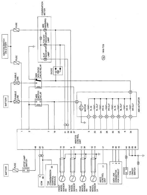 repair anti lock braking 1999 infiniti i auto manual repair guides anti lock brake system description operation autozone com