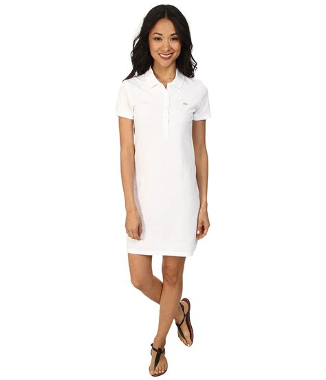 Dress Polos 2 lacoste sleeve classic pique polo dress in white lyst