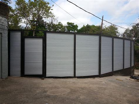 corrugated metal privacy fence metal diy design decor