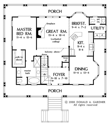 wrap around porch floor plans country style house plan 3 beds 2 5 baths 1849 sq ft