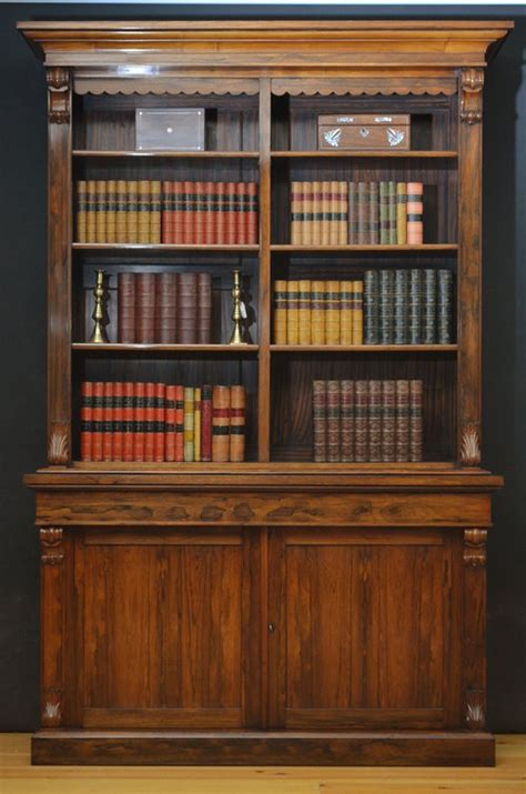 rosewood library bookcase antiques atlas