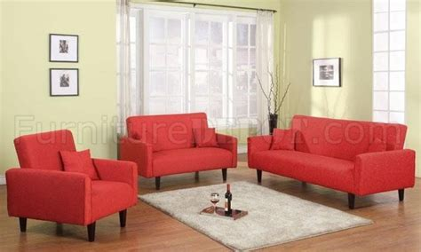 fabric modern 3pc living room set w sofa bed