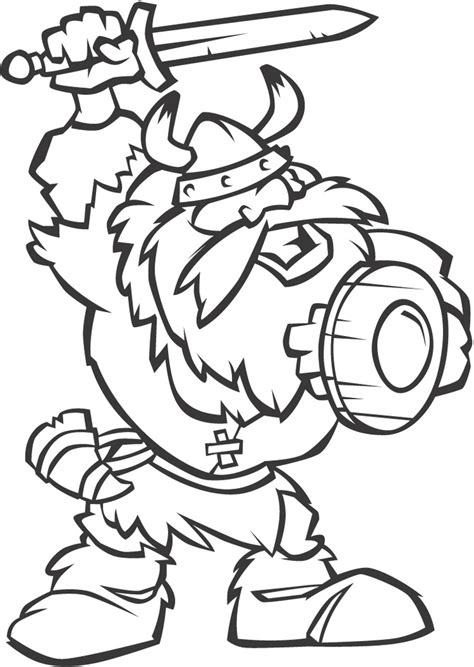 viking cartoon coloring page vikings pinterest