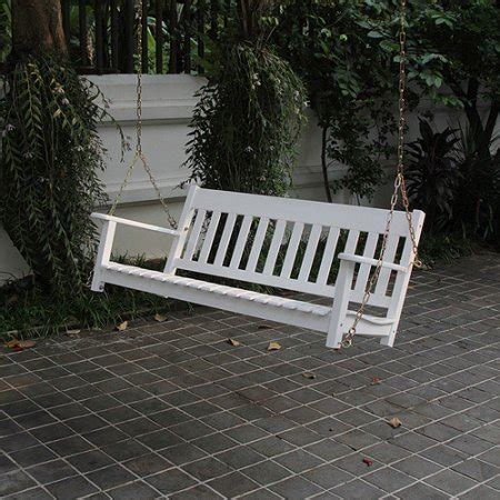 white porch swings delahey wood outdoor porch swing white seats 2 walmart com
