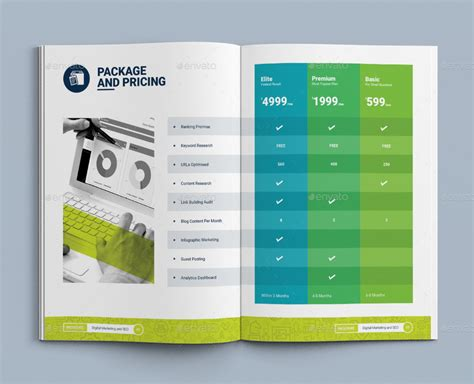 marketing packet template bi fold brochure template for seo search engine