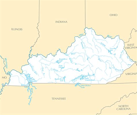 kentucky map with rivers and lakes pin kentucky maps on