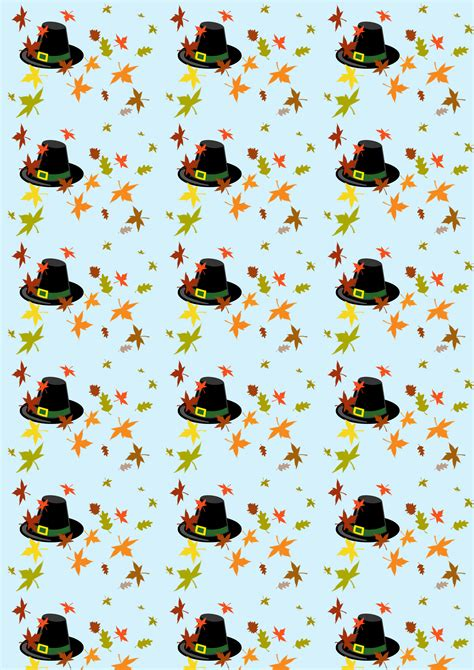 Scrapbook Paper: Thanksgiving Hat   Rooftop Post Printables