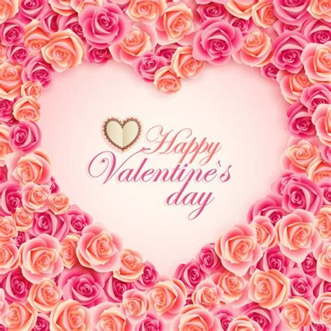 pink roses valentines day festival flower vector