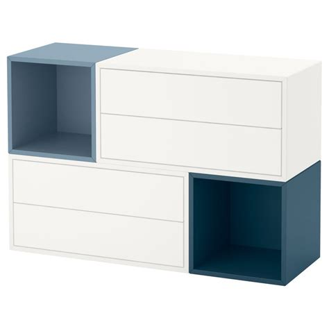 eket hack eket wall mounted cabinet combination white light blue blue 105x35x70 cm ikea eket and