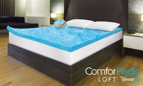 Memory Foam Mattress Toppers That Keep You Cool by Comforpedic 3 Quot Mattress Topper Groupon Goods