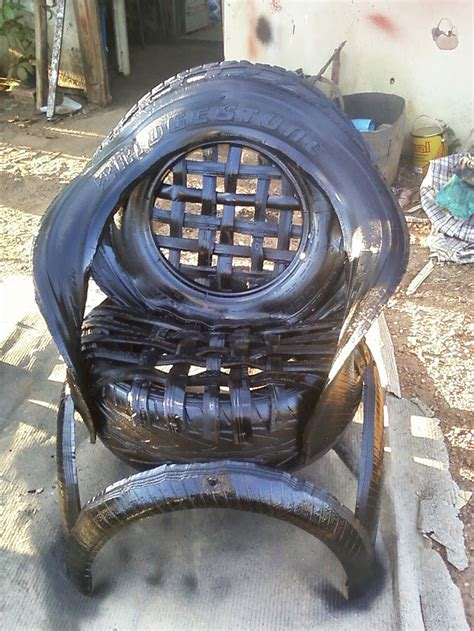 tire couch sofas made of recycled car tires bored panda